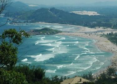 Praia da Ferrugem, Ponta do Cemitério dos Índios e Praia da Barra